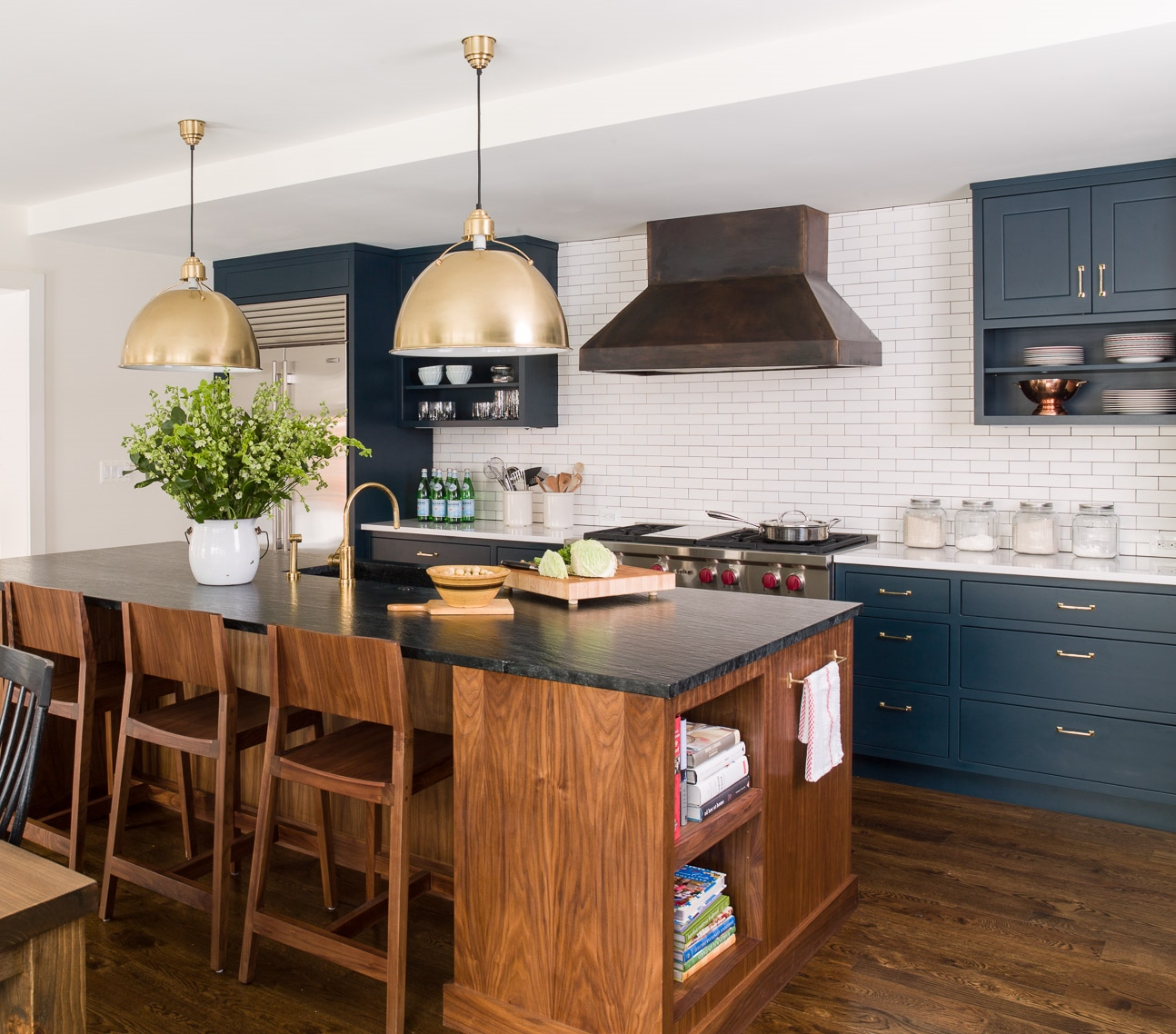 Navy Blue Kitchen With White Cabinets: A Navy Blue Kitchen Reveal