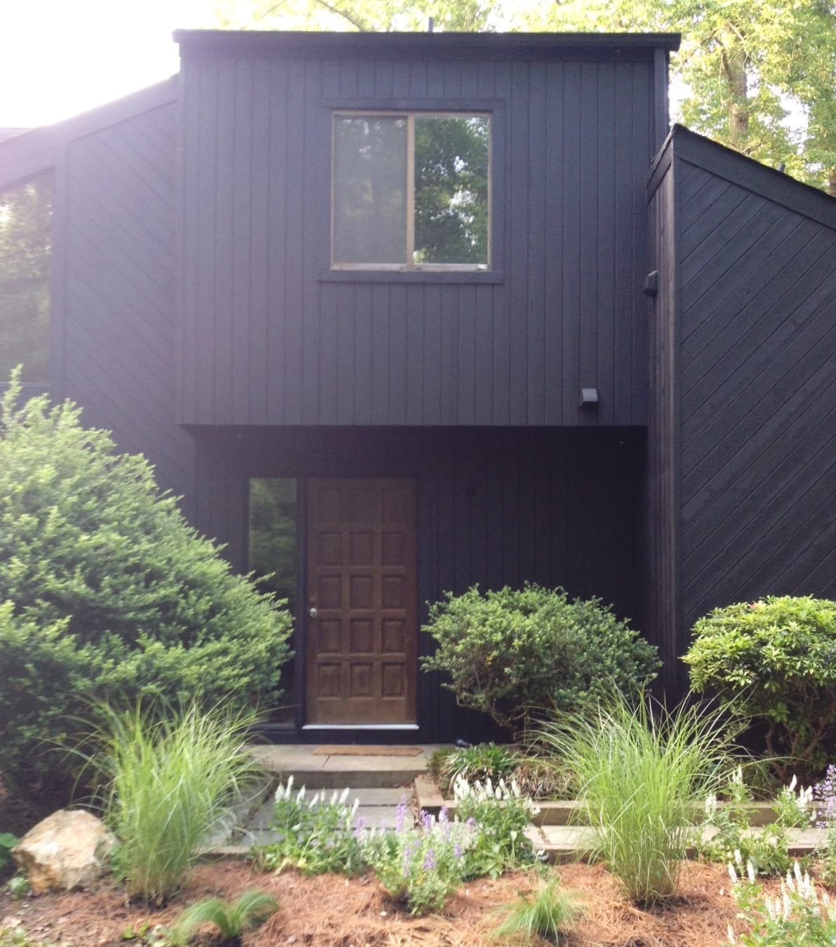 Progress on our house 39 s exterior for Updating 80s contemporary home exterior