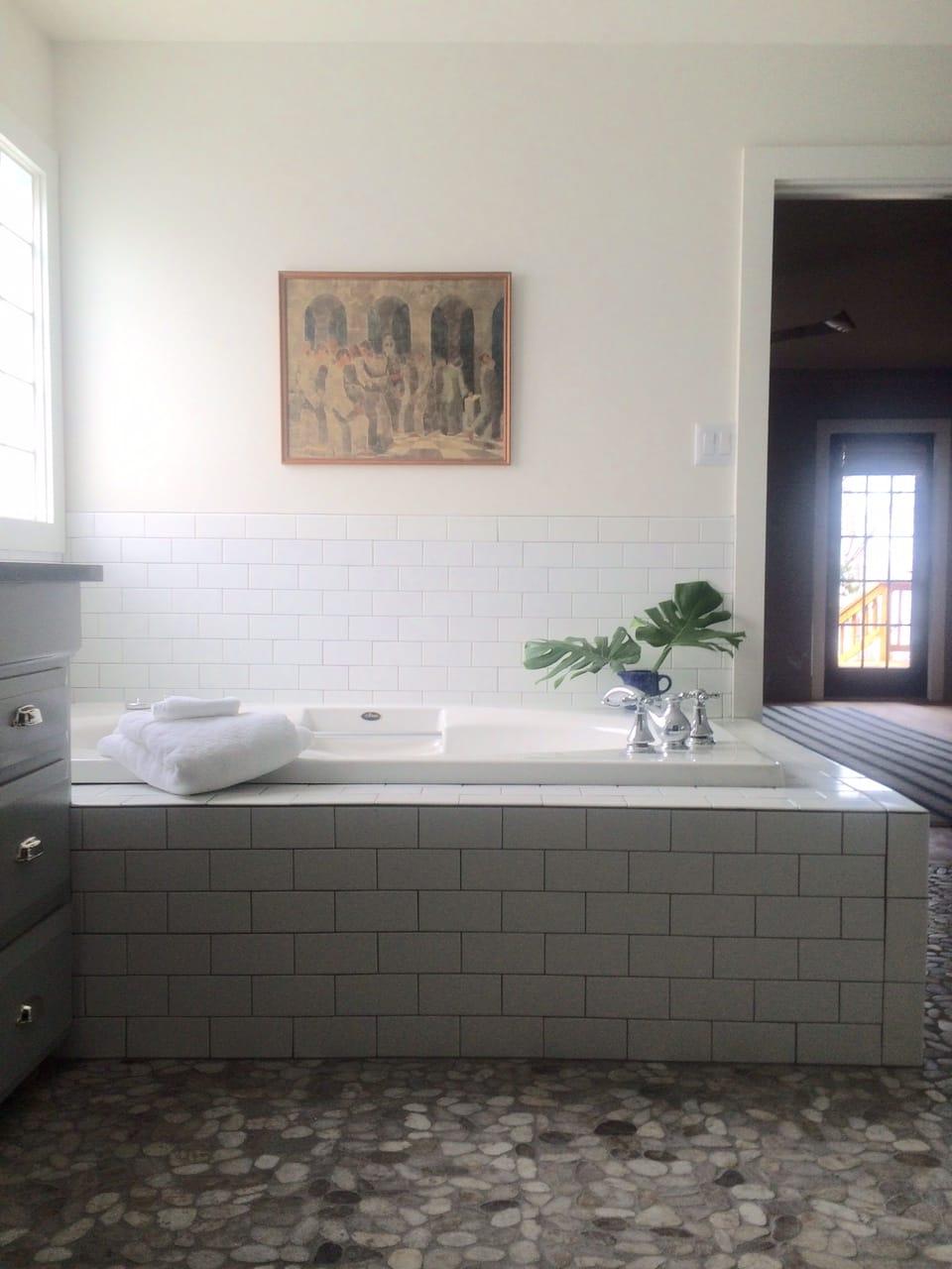 Raising Bathroom Vanity Height Lake House Master Bathroom Before After
