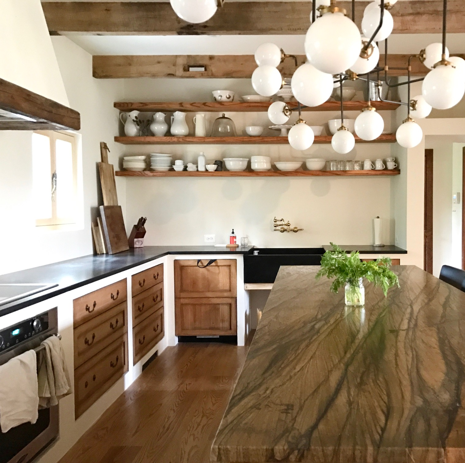 I Was Inspired By Old French And Italian Kitchens That Were Really Simple  And Rustic, Many Of Which Had Plaster Walls And Cabinet Frames Like Brooke  U0026 Steve ...